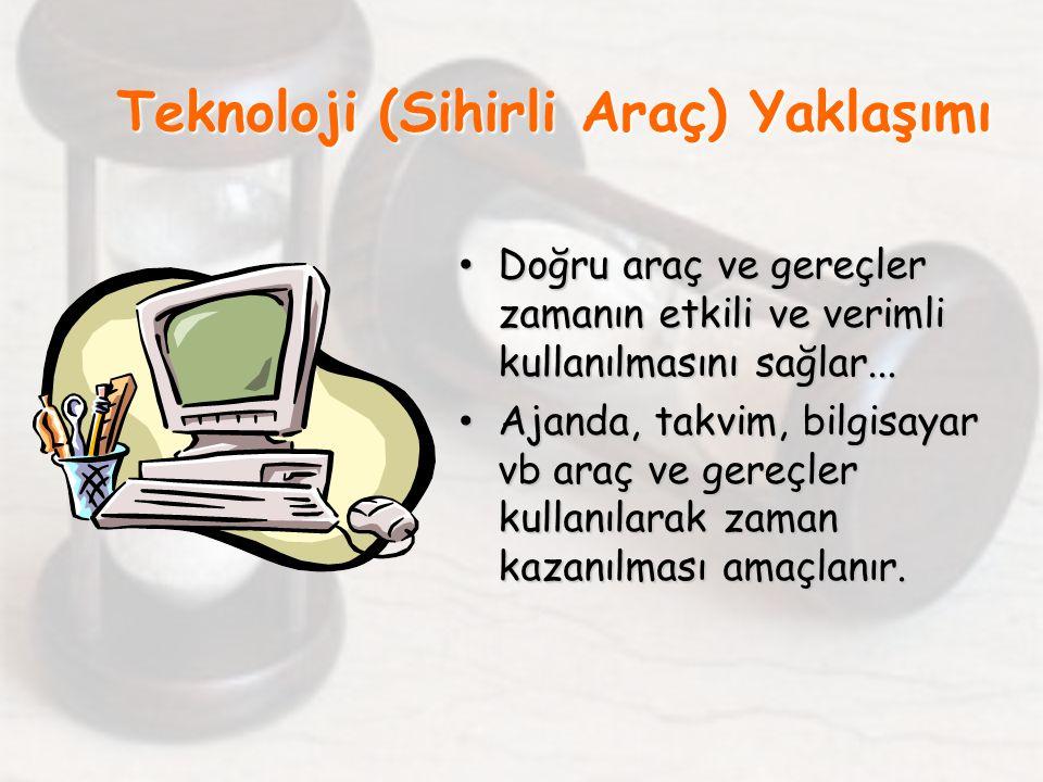 Teknoloji (Sihirli Araç) Yaklaşımı