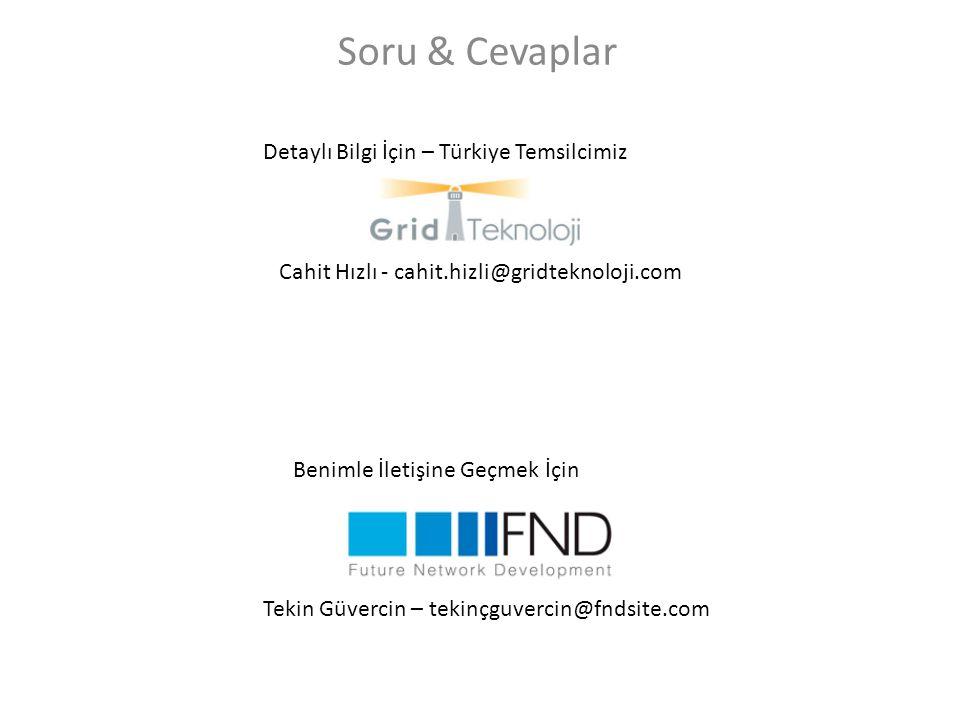 Soru & Cevaplar Detaylı Bilgi İçin – Türkiye Temsilcimiz