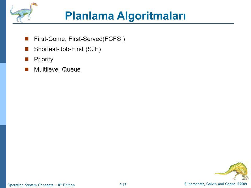 Planlama Algoritmaları