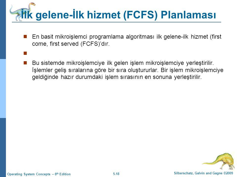 İlk gelene-İlk hizmet (FCFS) Planlaması
