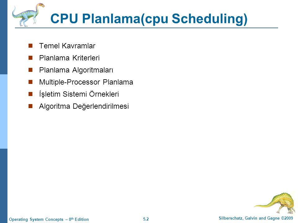 CPU Planlama(cpu Scheduling)
