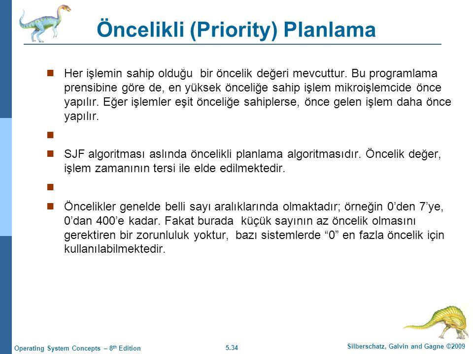 Öncelikli (Priority) Planlama
