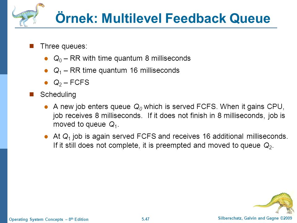 Örnek: Multilevel Feedback Queue