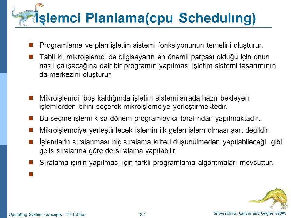 İşlemci Planlama(cpu Schedulıng)