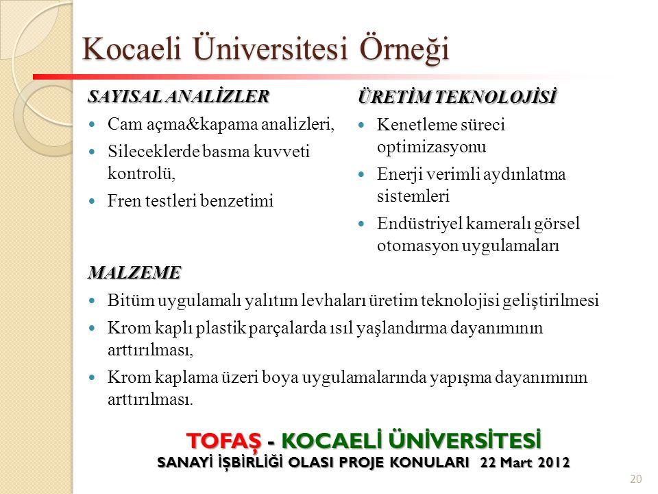 Kocaeli Üniversitesi Örneği
