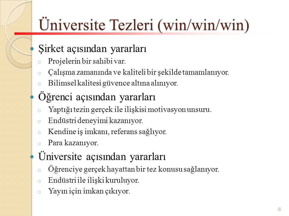 Üniversite Tezleri (win/win/win)