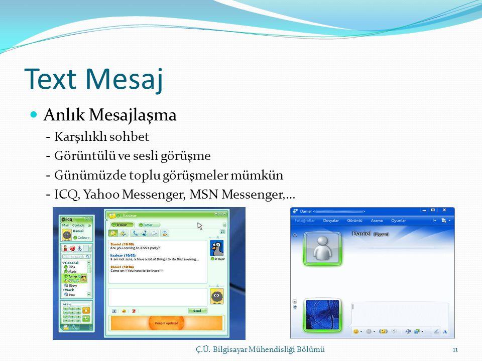 Text Mesaj Anlık Mesajlaşma - Karşılıklı sohbet