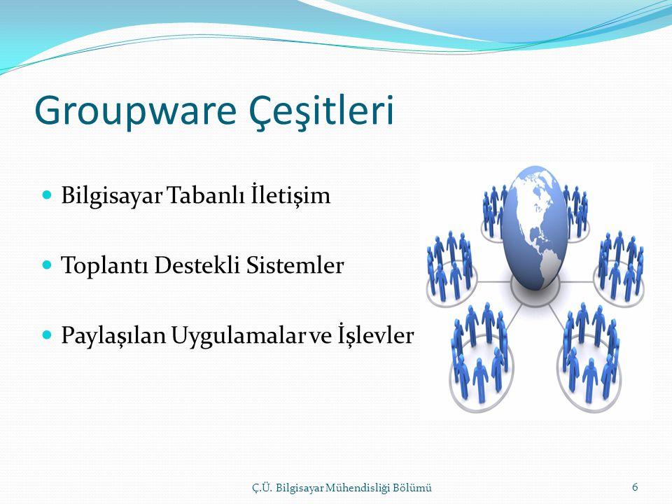 Groupware Çeşitleri Bilgisayar Tabanlı İletişim