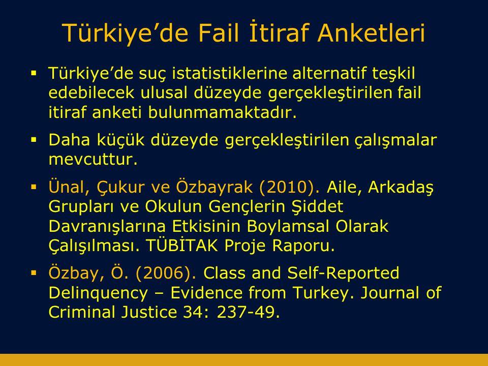 Türkiye'de Fail İtiraf Anketleri