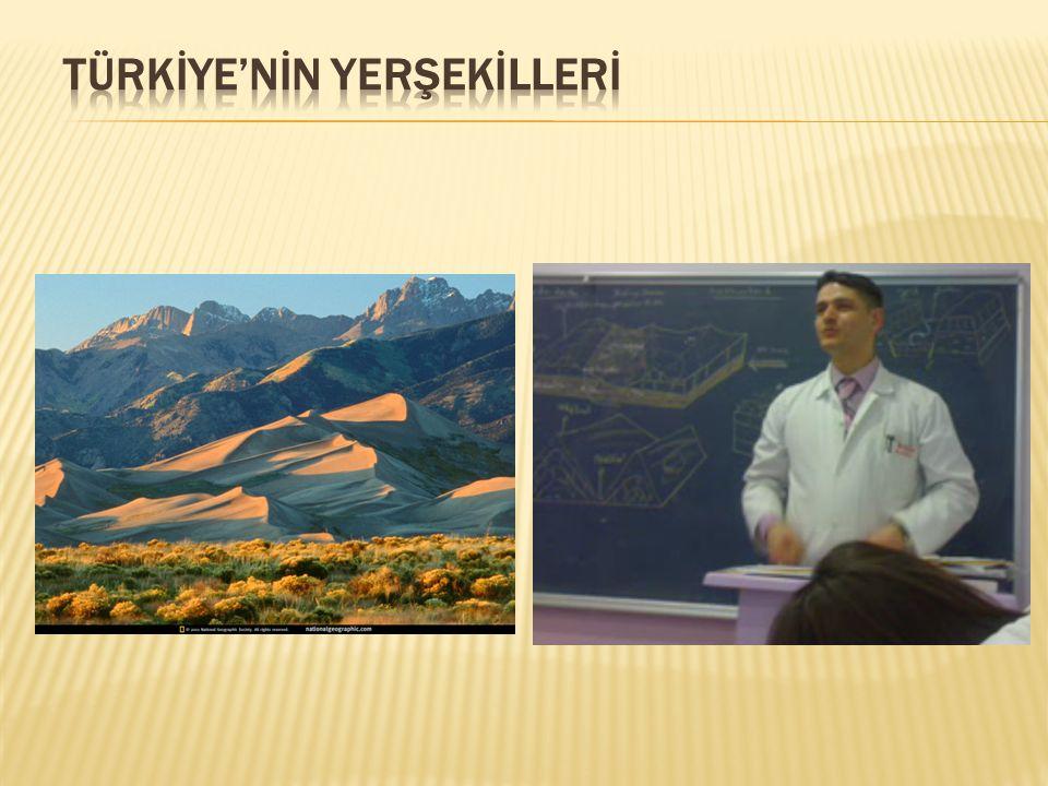 TÜRKİYE'NİN YERŞEKİLLERİ