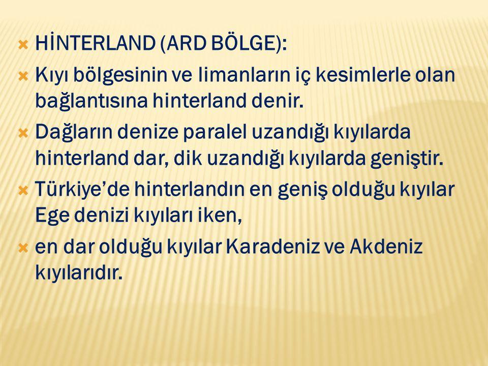 HİNTERLAND (ARD BÖLGE):