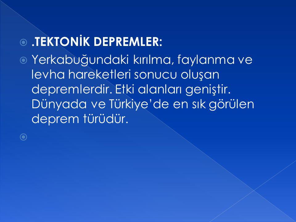 .TEKTONİK DEPREMLER: