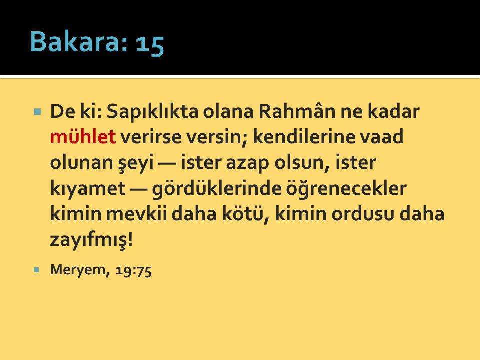 Bakara: 15