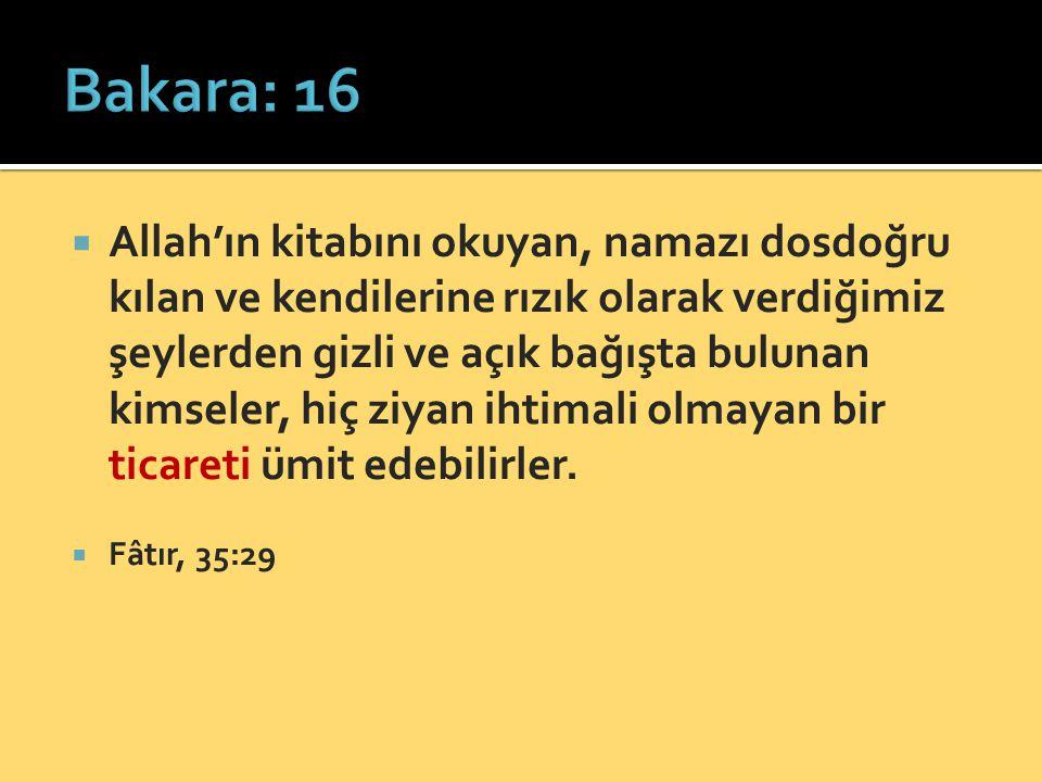 Bakara: 16
