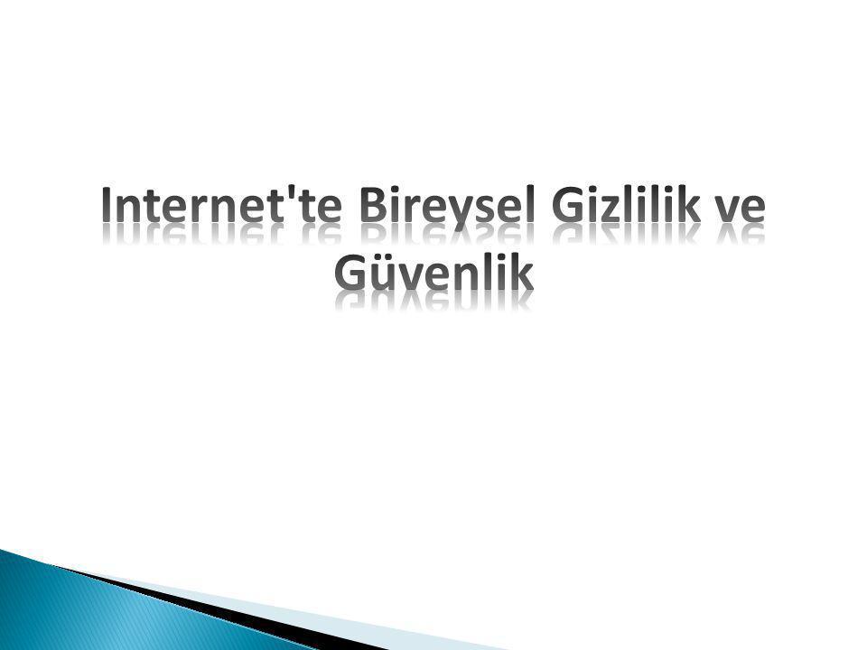 Internet te Bireysel Gizlilik ve Güvenlik
