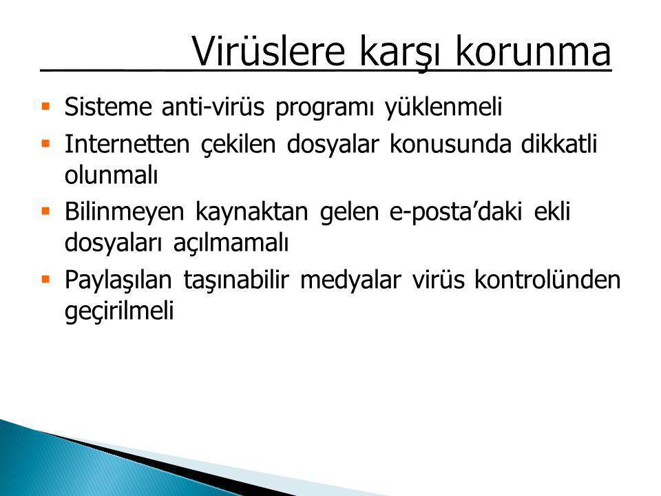 Virüslere karşı korunma