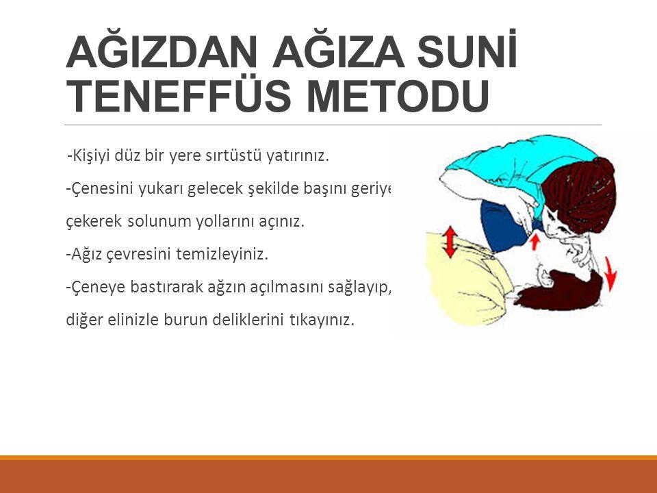 AĞIZDAN AĞIZA SUNİ TENEFFÜS METODU