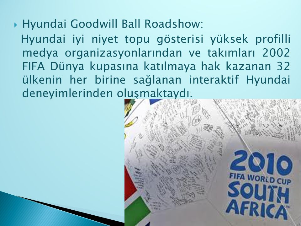 Hyundai Goodwill Ball Roadshow: