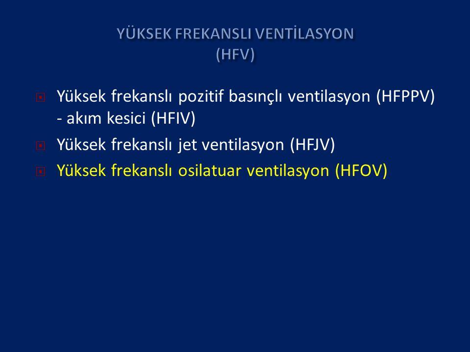 YÜKSEK FREKANSLI VENTİLASYON (HFV)
