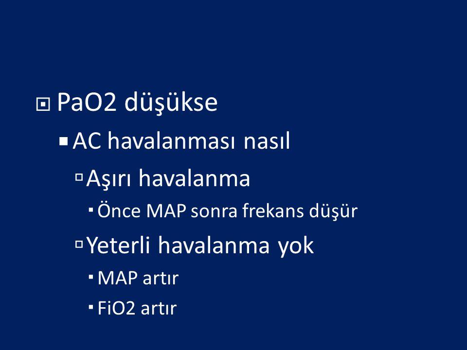 PaO2 düşükse AC havalanması nasıl Aşırı havalanma
