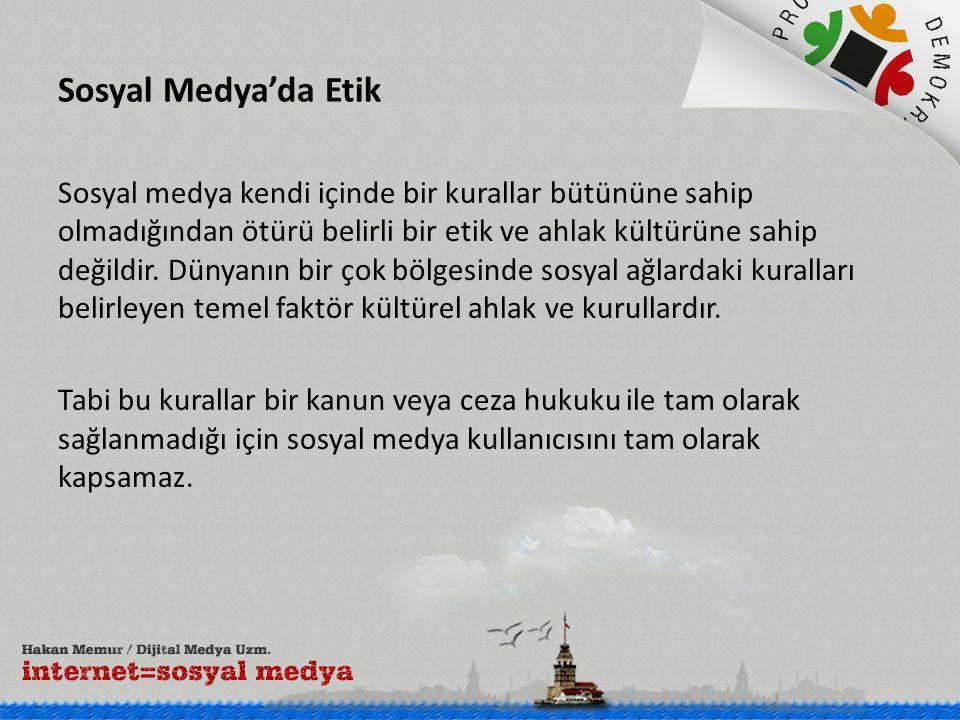 Sosyal Medya'da Etik