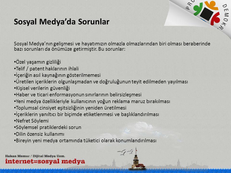 Sosyal Medya'da Sorunlar