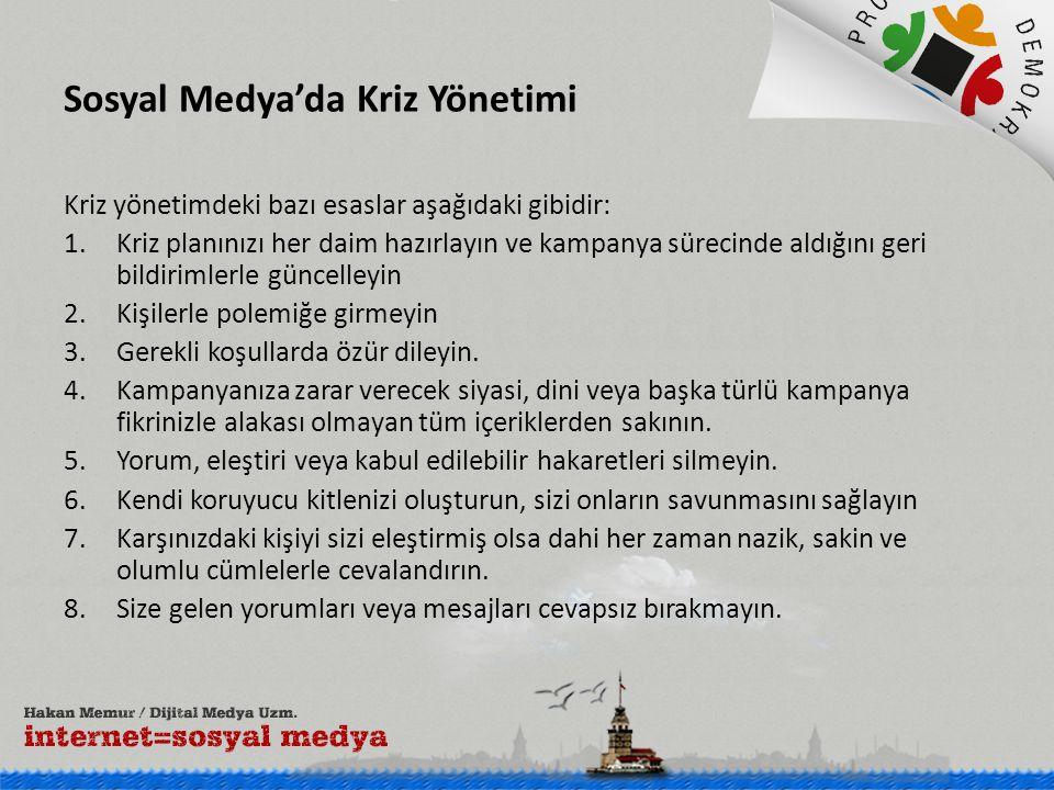 Sosyal Medya'da Kriz Yönetimi