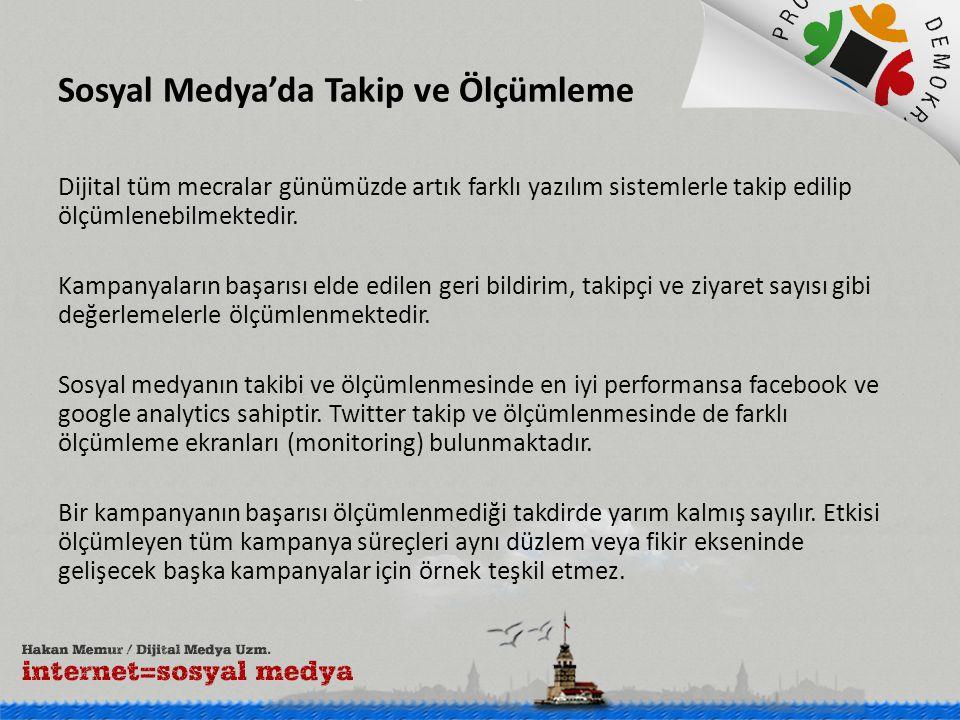 Sosyal Medya'da Takip ve Ölçümleme