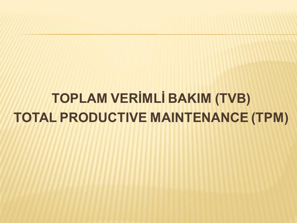 TOPLAM VERİMLİ BAKIM (TVB) TOTAL PRODUCTIVE MAINTENANCE (TPM)