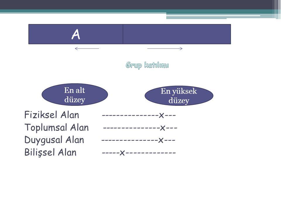 A Fiziksel Alan ---------------x--- Toplumsal Alan ---------------x---