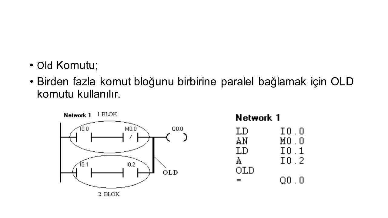 Old Komutu; Birden fazla komut bloğunu birbirine paralel bağlamak için OLD komutu kullanılır.