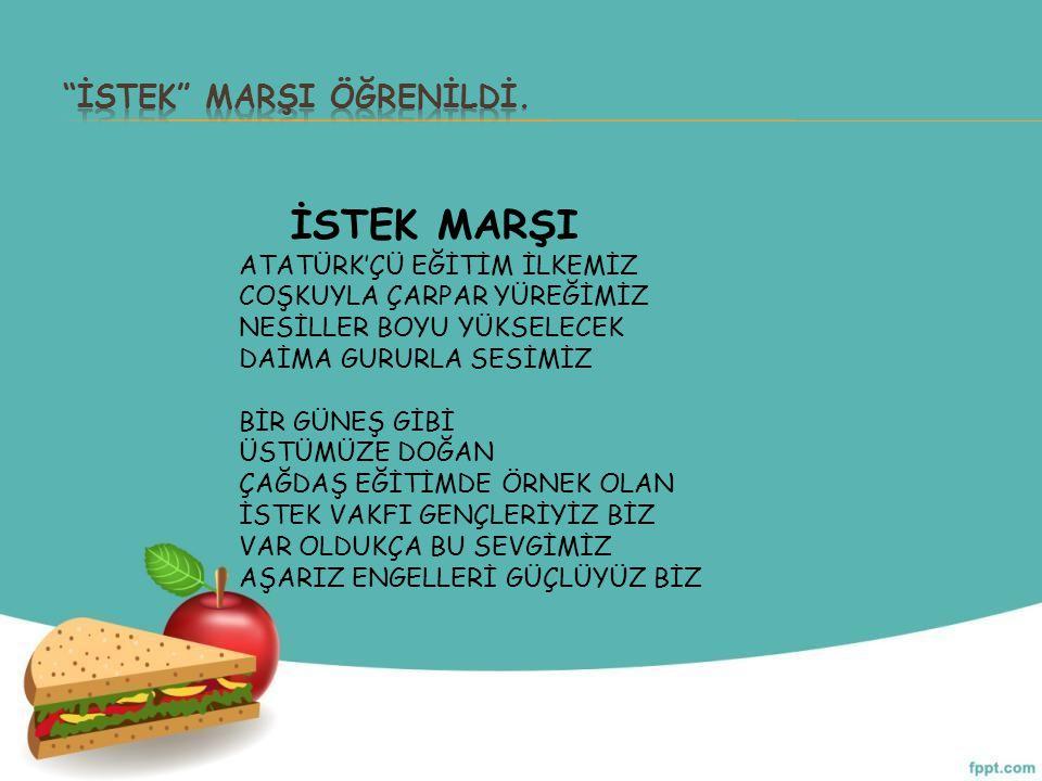 İSTEK MARŞI ÖĞRENİLDİ.