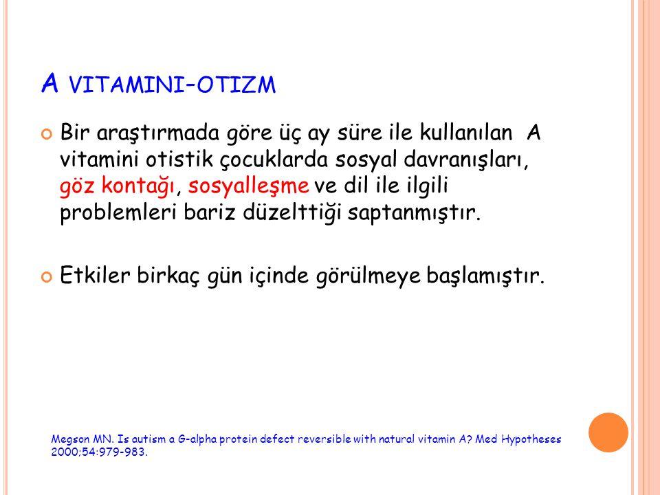 A vitamini-otizm