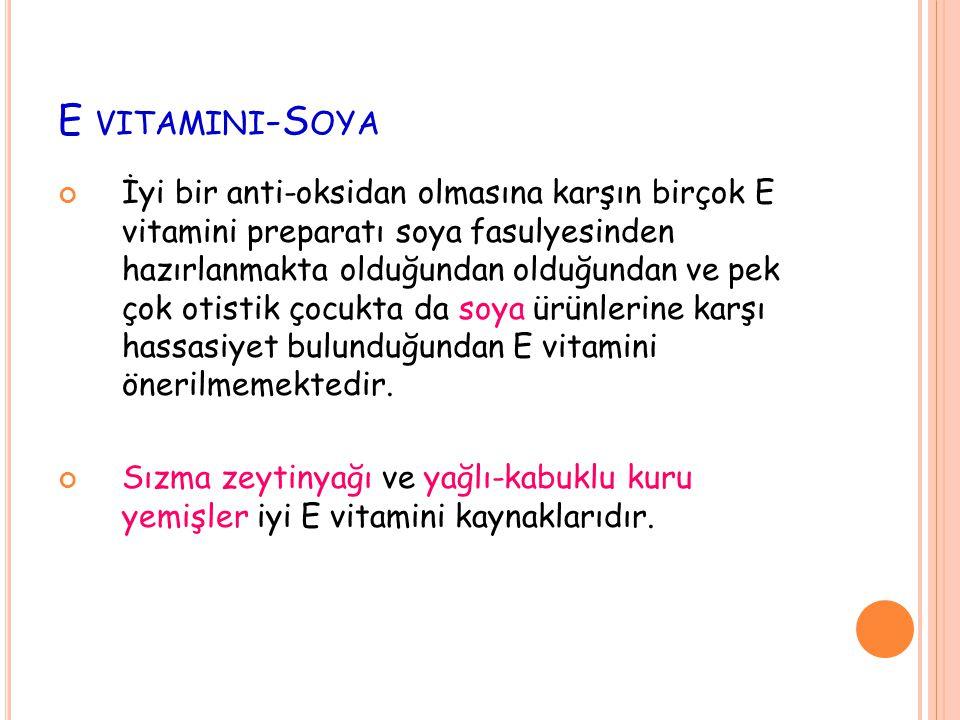 E vitamini-Soya