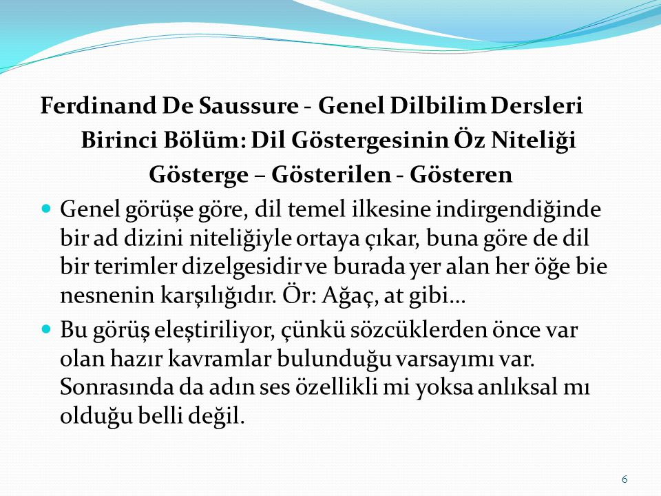 Ferdinand De Saussure - Genel Dilbilim Dersleri