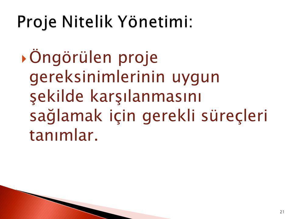 Proje Nitelik Yönetimi:
