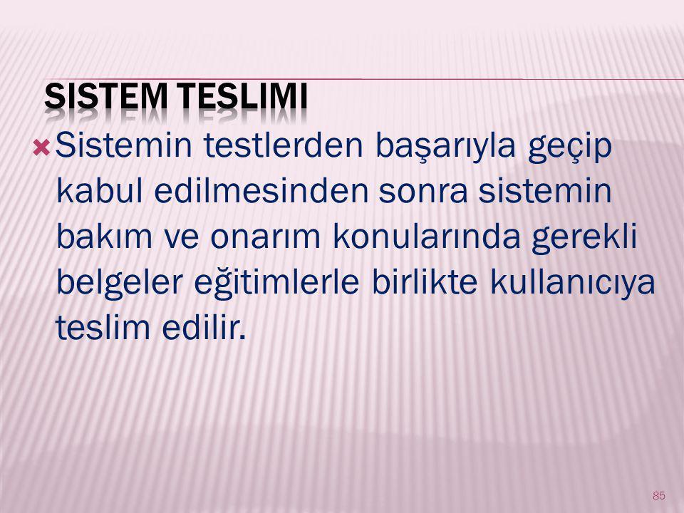 Sistem Teslimi
