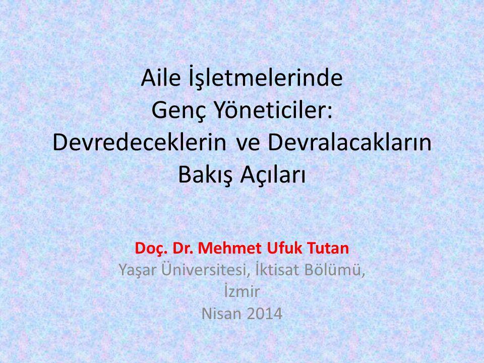 Doç. Dr. Mehmet Ufuk Tutan