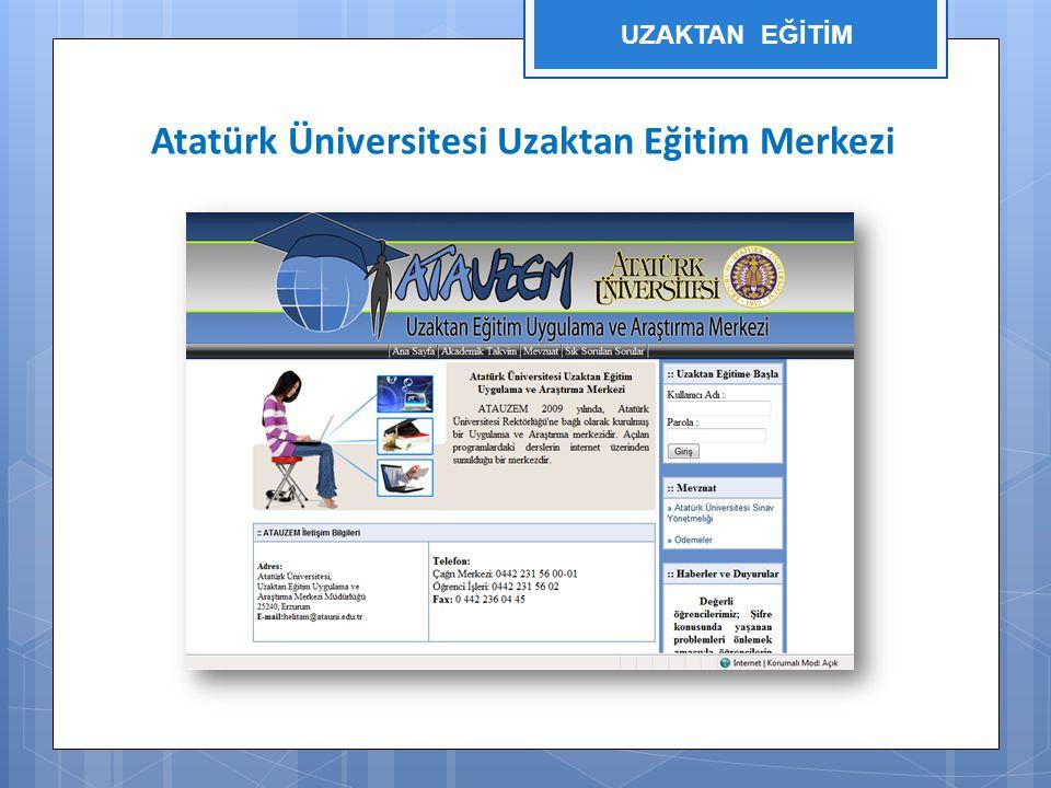 Atatürk Üniversitesi Uzaktan Eğitim Merkezi