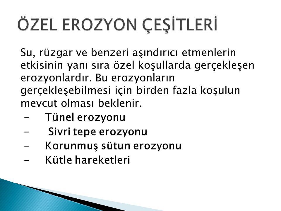 ÖZEL EROZYON ÇEŞİTLERİ
