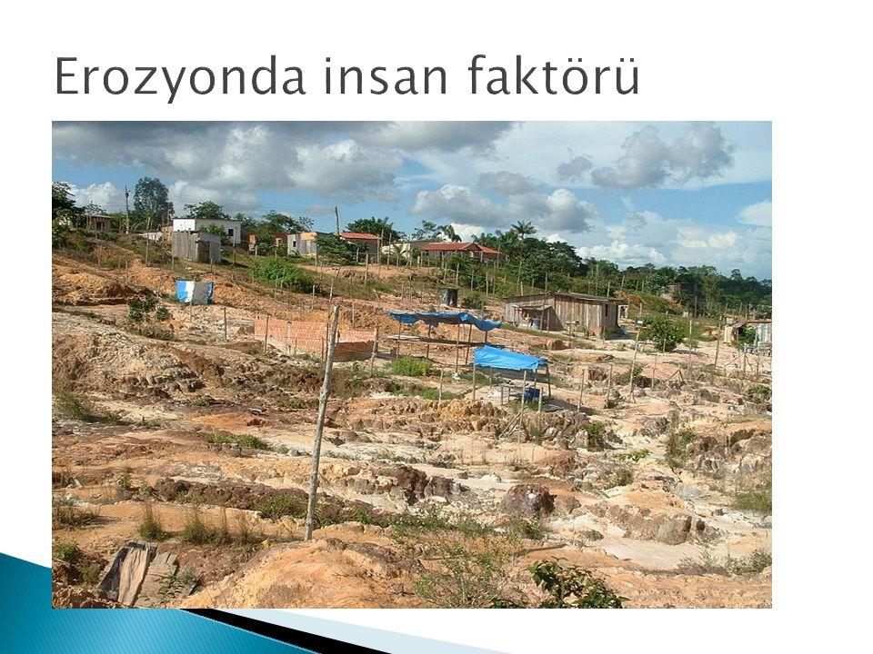 Erozyonda insan faktörü