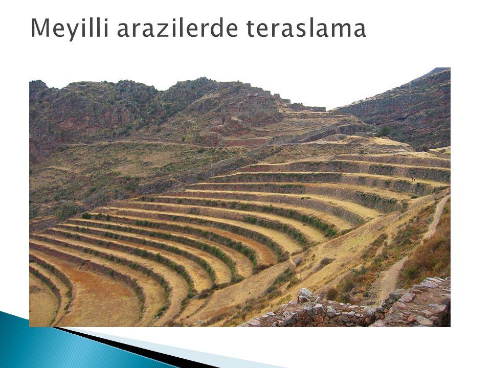 Meyilli arazilerde teraslama