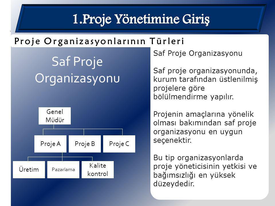 1.Proje Yönetimine Giriş