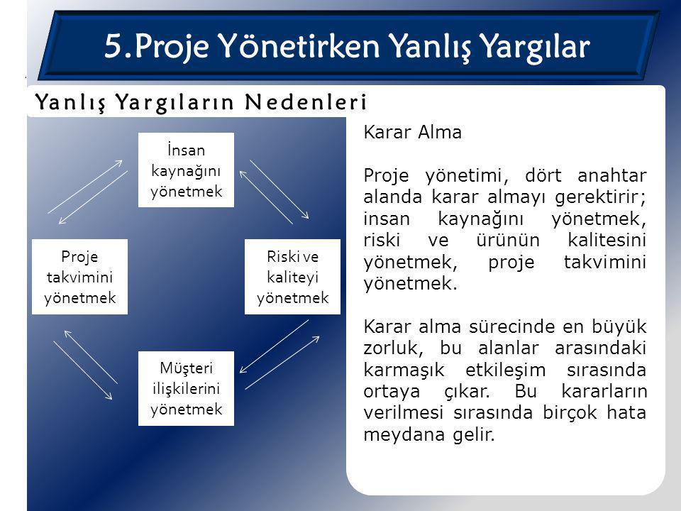 5.Proje Yönetirken Yanlış Yargılar