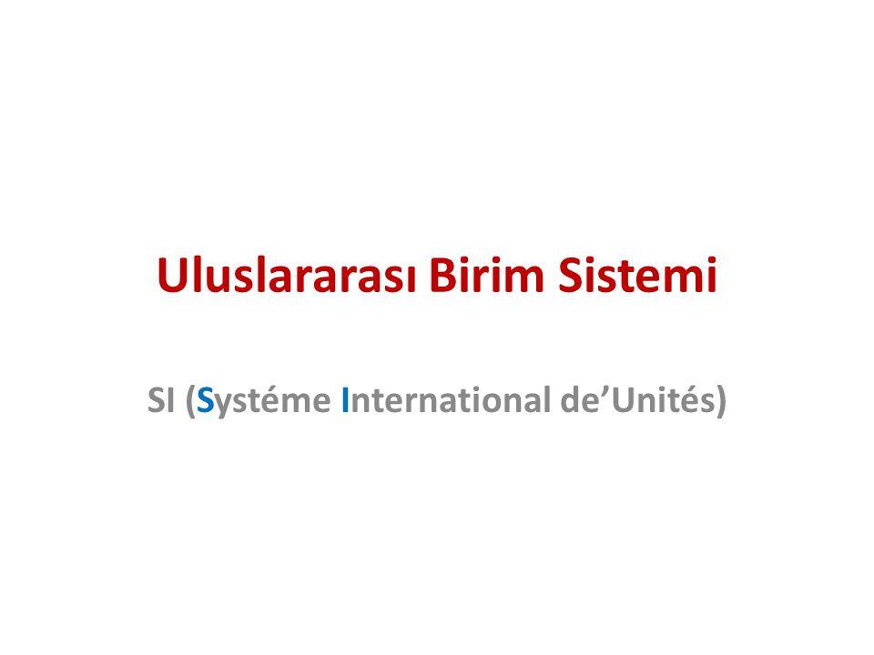 Uluslararası Birim Sistemi