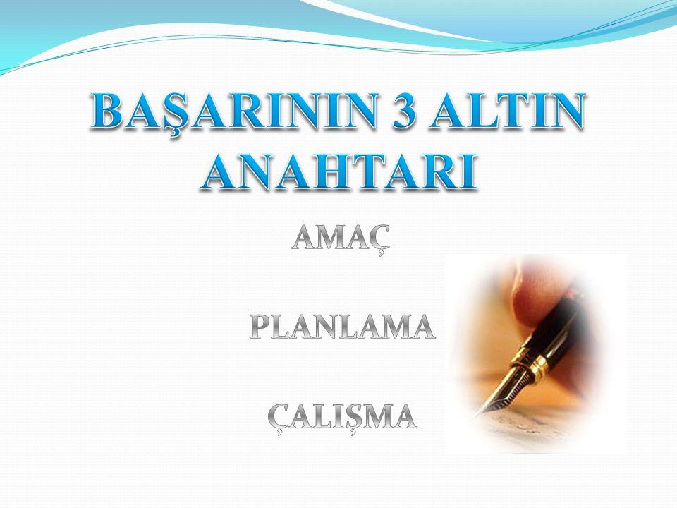 BAŞARININ 3 ALTIN ANAHTARI