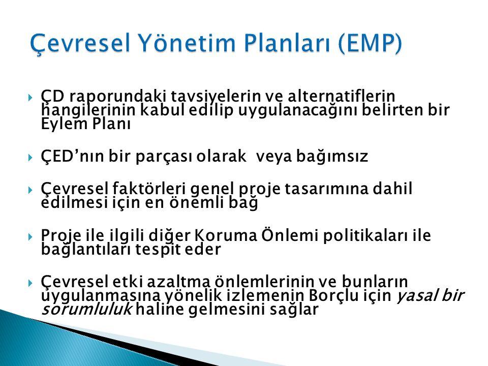 Çevresel Yönetim Planları (EMP)