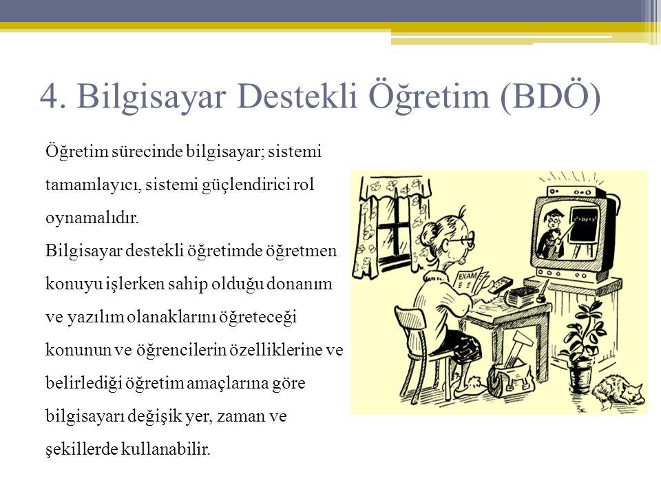 4. Bilgisayar Destekli Öğretim (BDÖ)