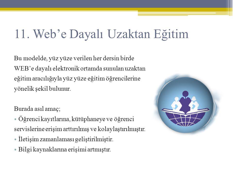 11. Web'e Dayalı Uzaktan Eğitim