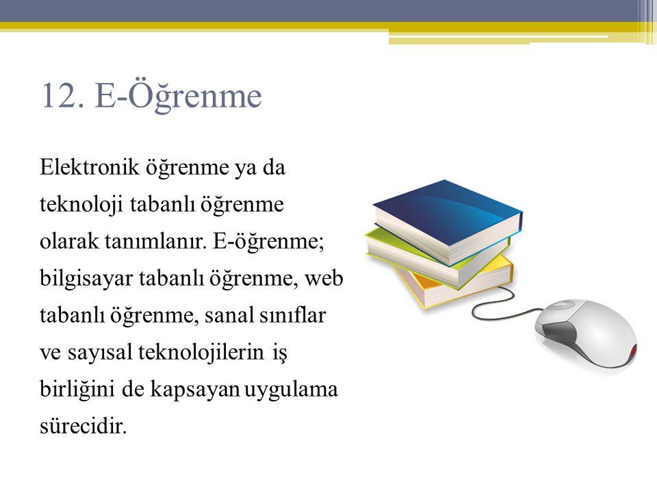 12. E-Öğrenme